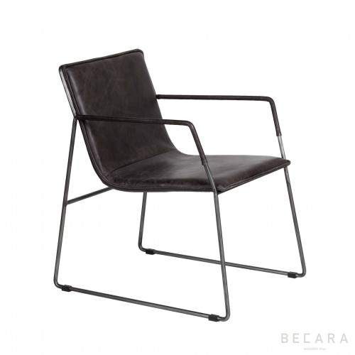 Elephant leather Alfred armchair