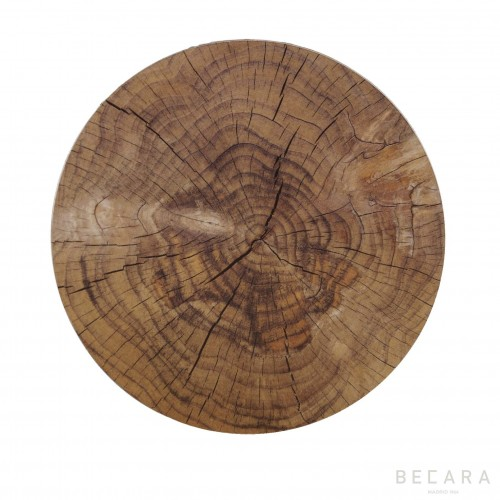 Natural Lombok set of 4 coasters