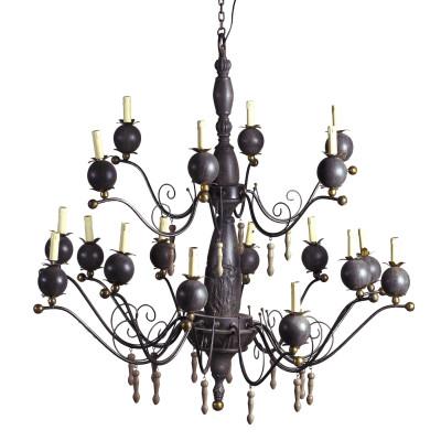 18 light pomegrates chandelier
