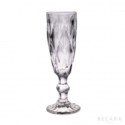 Transparent Louvre champagne glass
