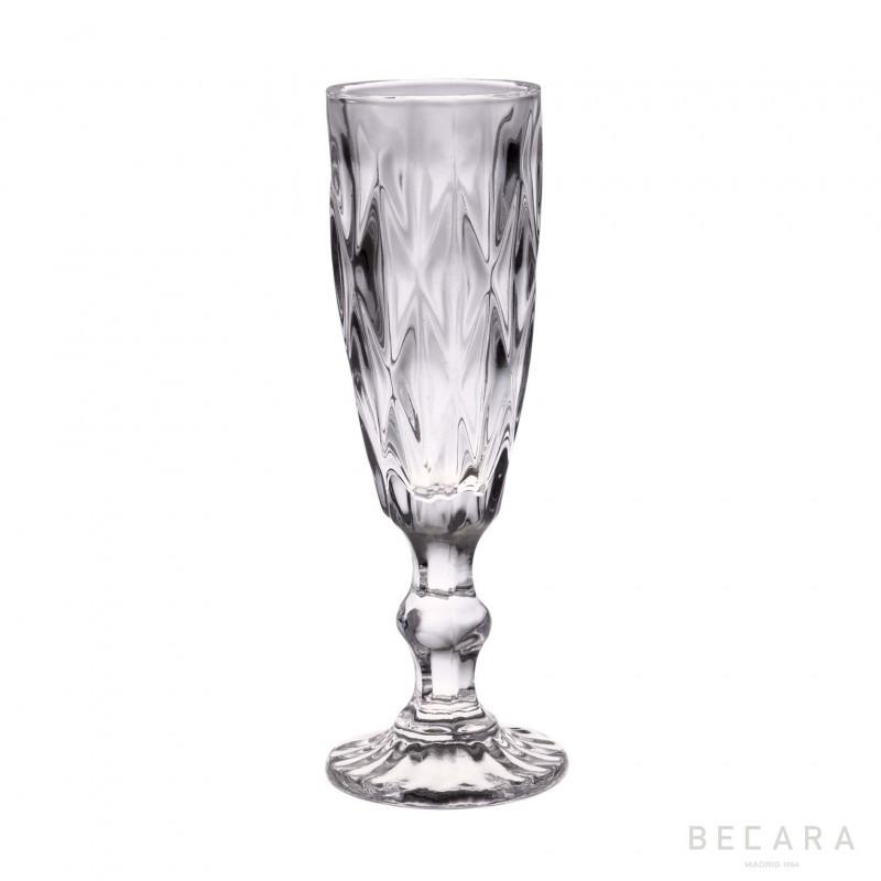 Copa de champagne Louvre transparente - BECARA