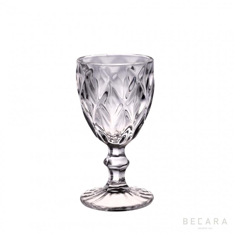LOUVRE TRANSP. WINE GLASS