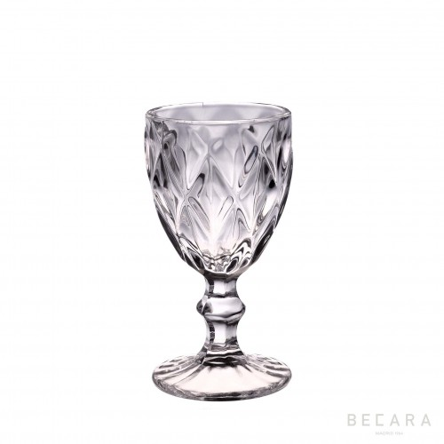 Transparent Louvre wine glass