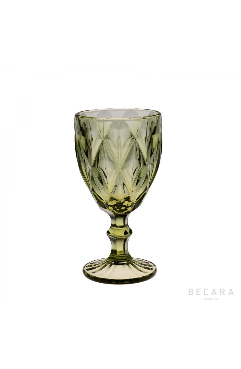 Copa agua louvre verde cristaler a en becara for Cristaleria copas