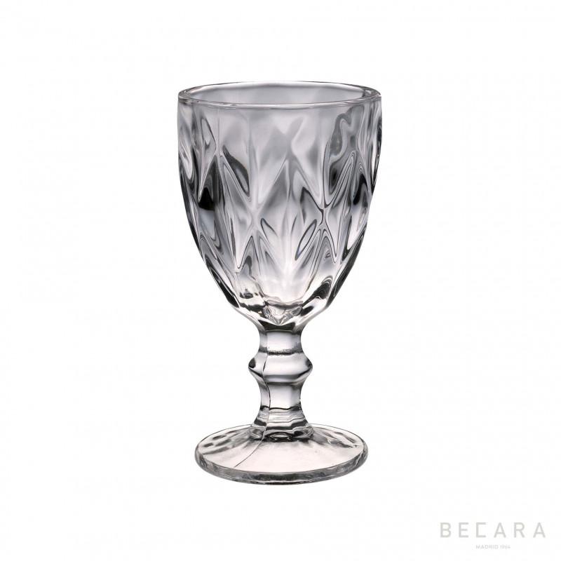 LOUVRE TRANSP. WATER GLASS