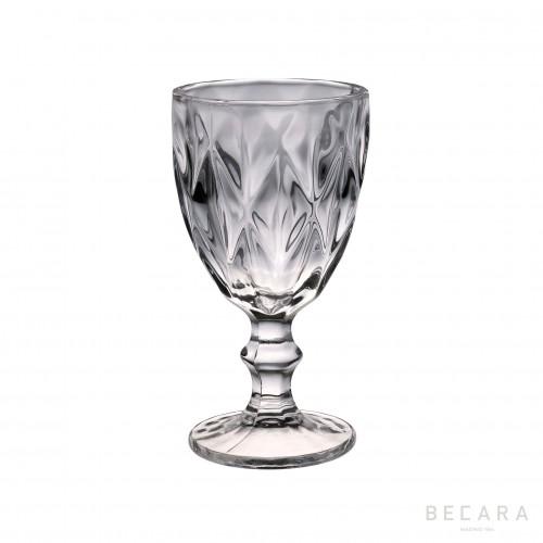 Copa de agua Louvre transparente