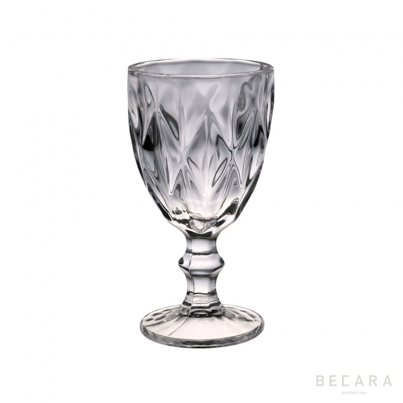 Transparent Louvre water glass