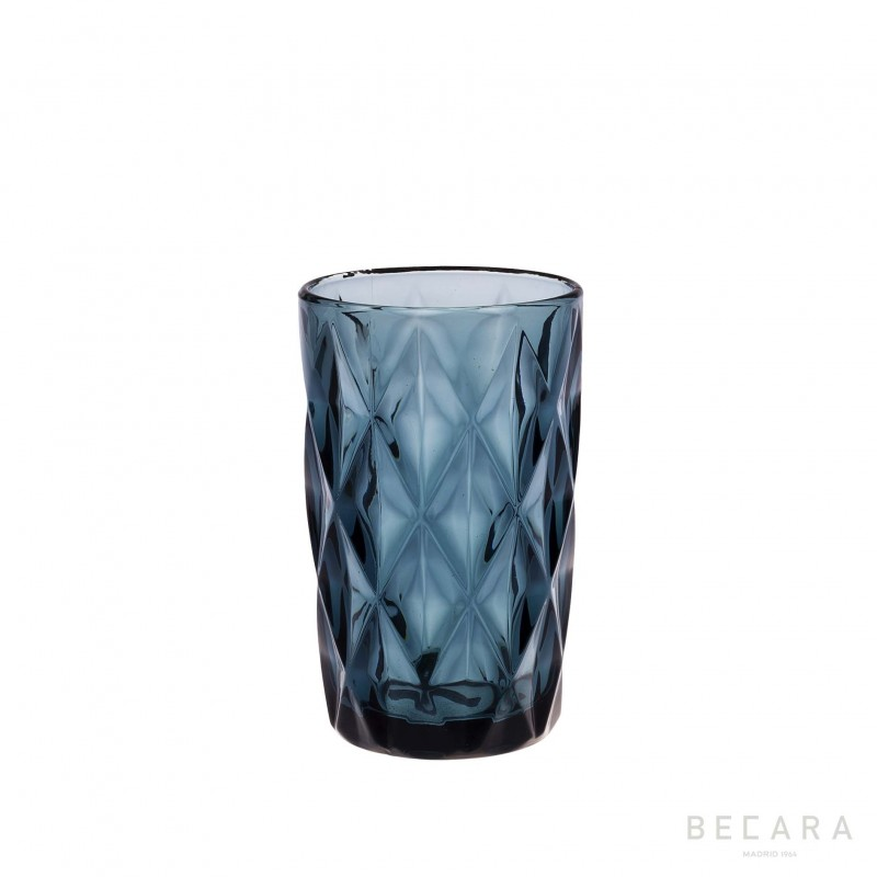 Blue Louvre tall glass