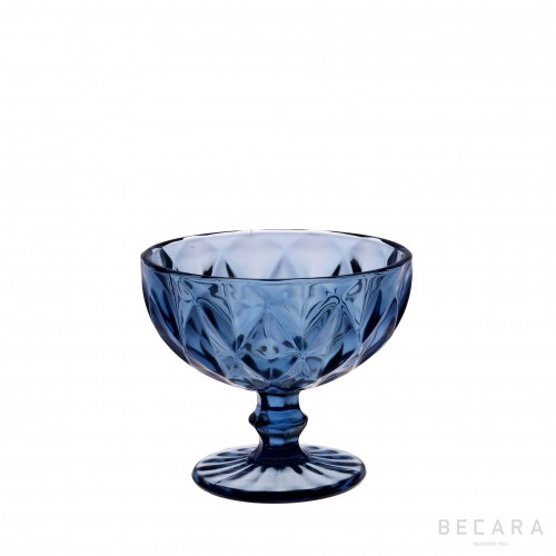 Blue Louvre ice-cream glass