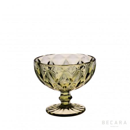 Green Louvre ice-cream glass