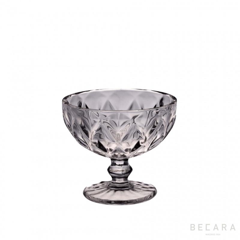 LOUVRE TRANSP. ICE CREAM GLASS