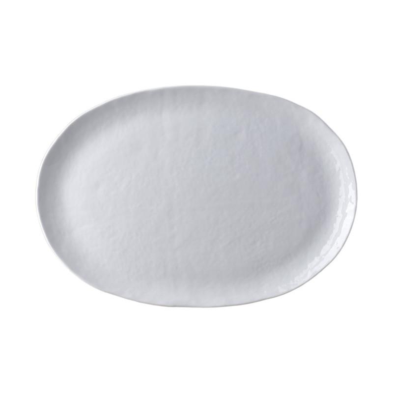 MOON WHITE OVAL PLATTER