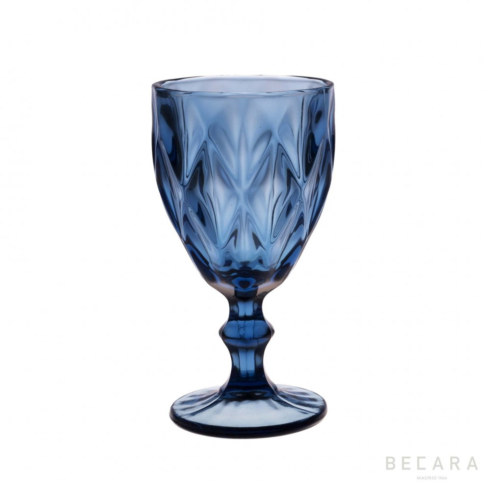 Copa de agua louvre azul cristaler a en becara for Copa de agua