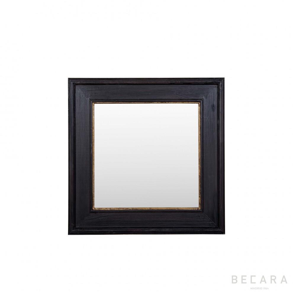 Espejo black tie 100x100cm espejos en becara for Espejo 70 mendoza