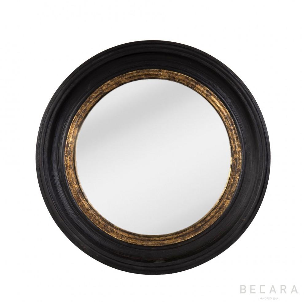 espejo ojo de pez con filo dorado 52cm espejos en becara