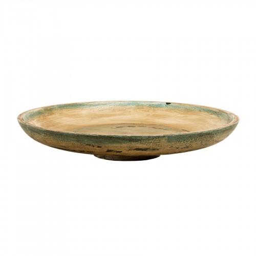 Plato de madera pintado Antique - BECARA