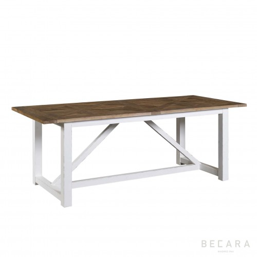 Mesa de comedor Camargue Weather blanco - BECARA