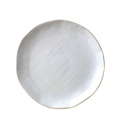 WHITE LINEN PLATE