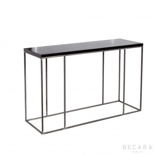 Metal and black wooden console