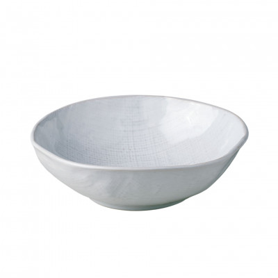 WHITE LINEN SOUP DISH