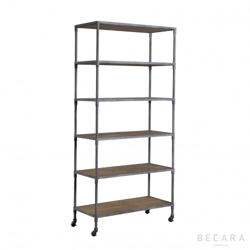 Grey iron Subway shelves