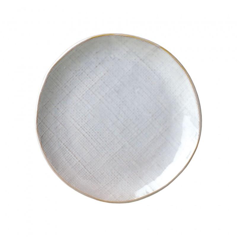 Plato postre Linen blanco - BECARA