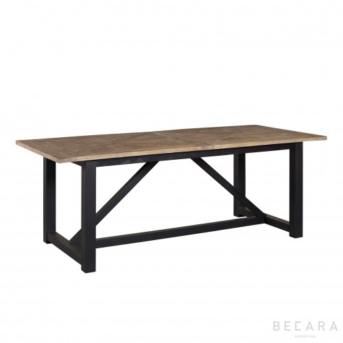 Mesa de comedor Camargue Weather negra - BECARA