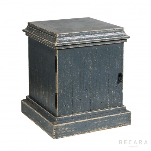 Grey wooden side table