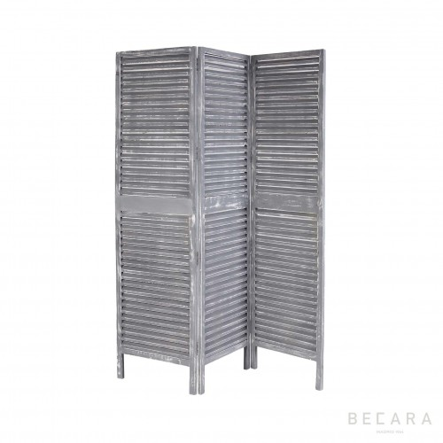Grey wooden screen room divider