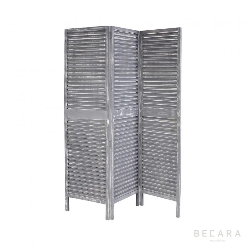 Biombo de madera gris - BECARA