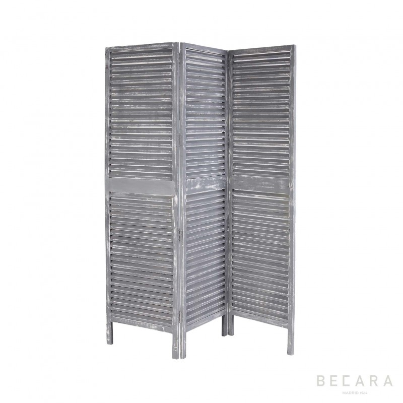 Grey wooden screen room divider