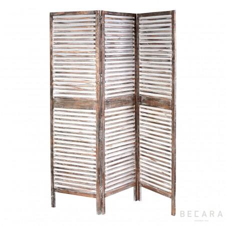 Biombo de madera color cobre
