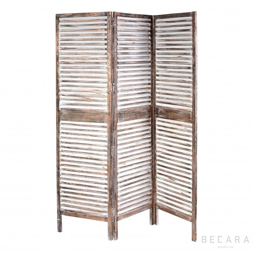 Wooden copper color screen room divider