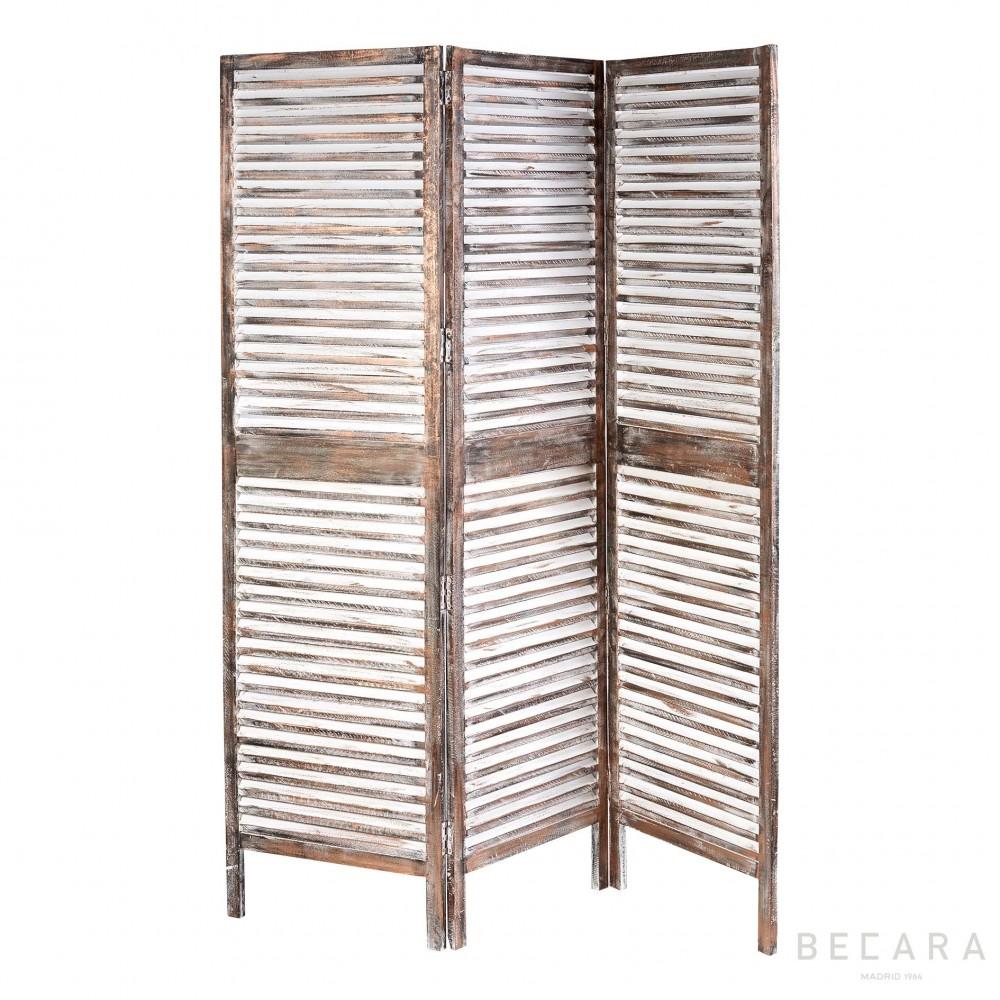Biombo de madera color cobre biombos y cabeceros en becara - Biombos de madera ...