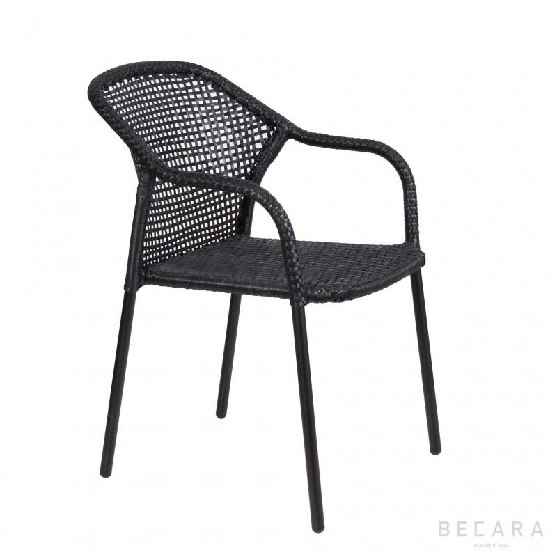 Black Miami armchair