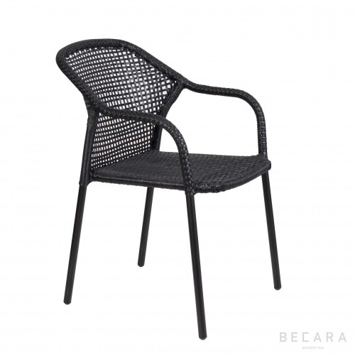 Black Miami armchair