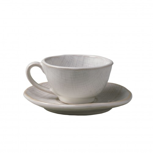 Linen coffee cup w/plate