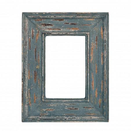 Marco de madera gris azulada envejecido