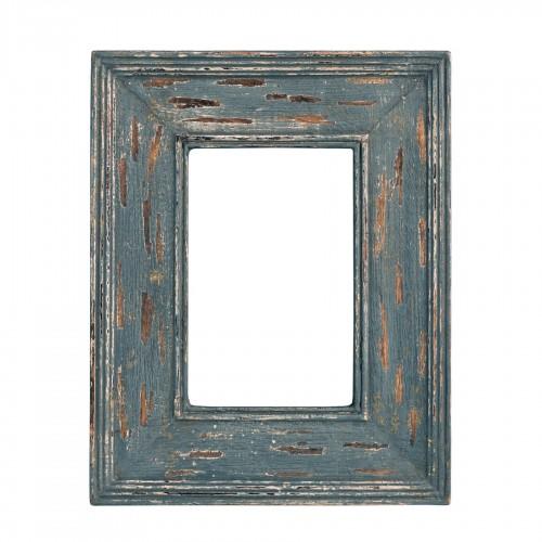 Distressed bluish grey wooden frame