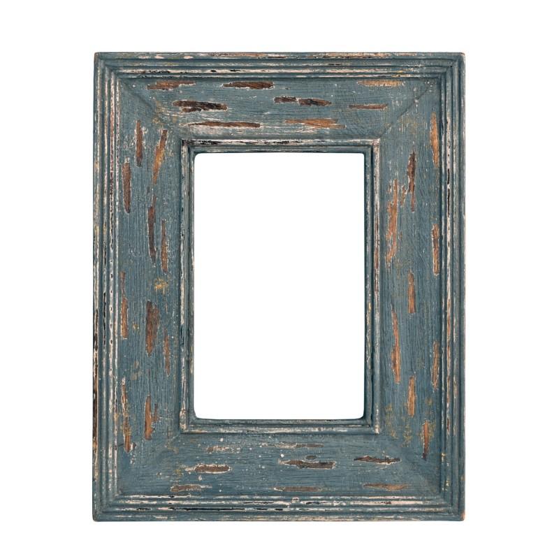 Marco de madera gris azulada envejecido - BECARA