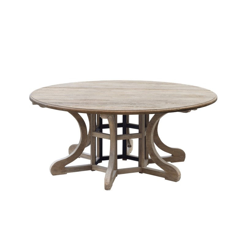 Round multi-leg dinning table