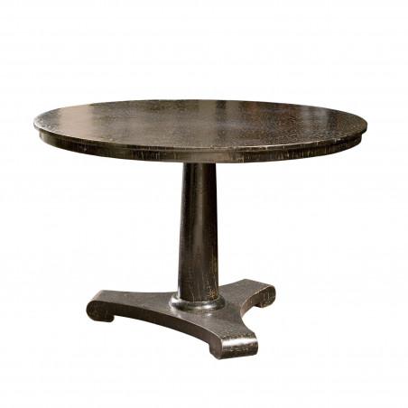 Mesa de comedor redonda con acabado caviar