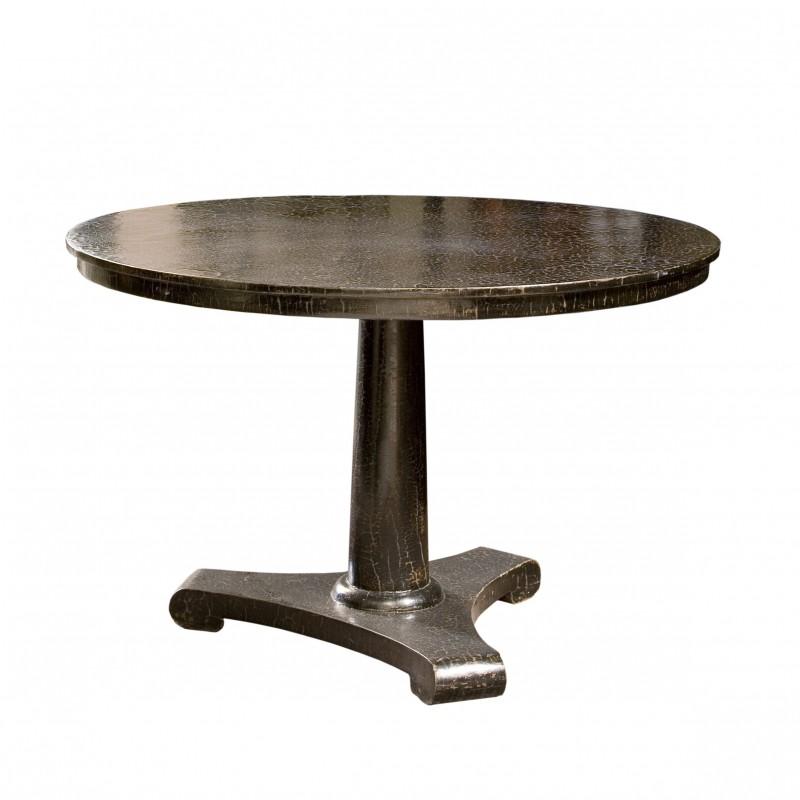 Mesa de comedor redonda con acabado caviar - BECARA