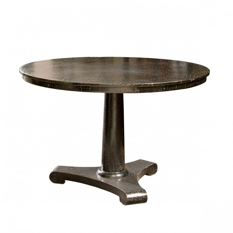 Round dinning table with caviar finish