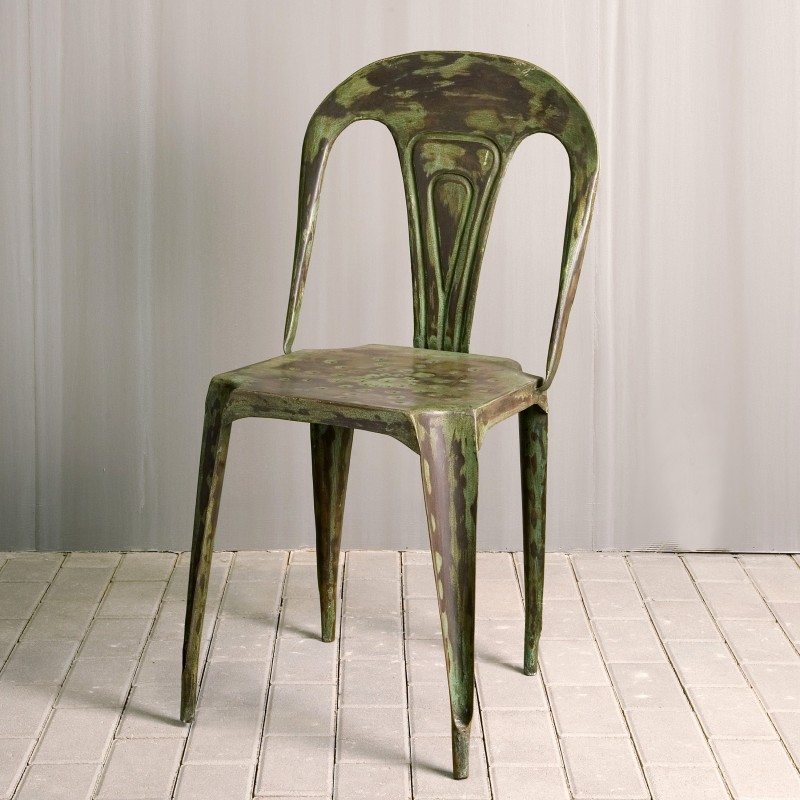 Green splint chair