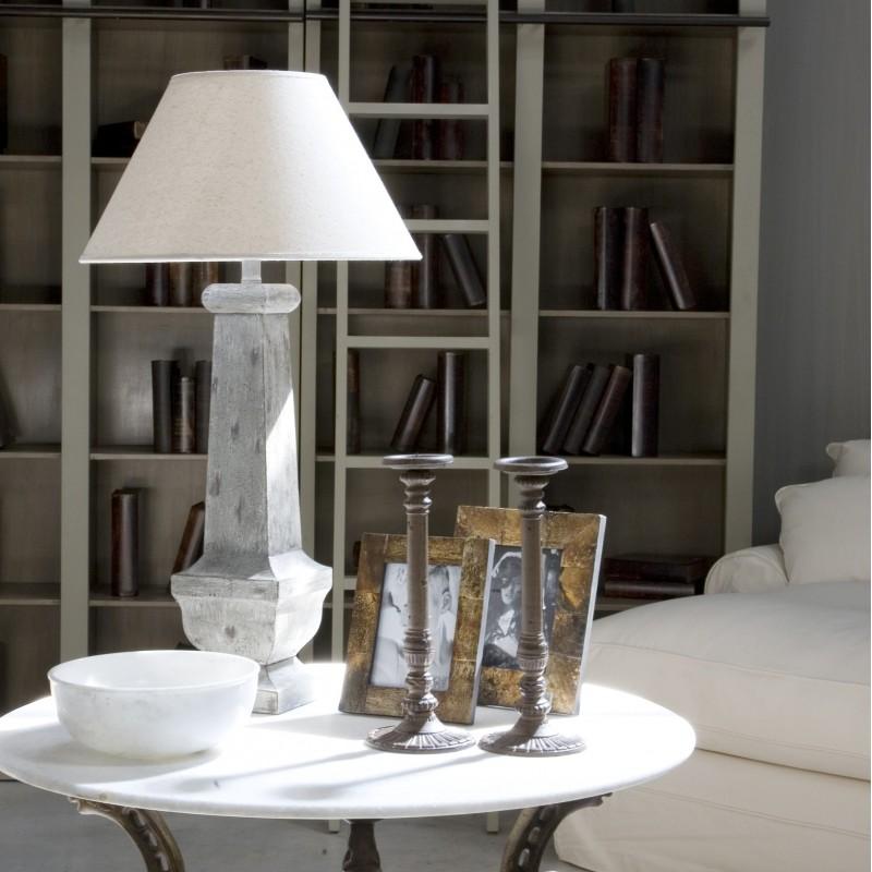 Lámpara de mesa Nicolette blanca - BECARA