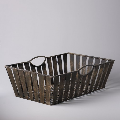 Iron strips basket