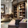 LIGHT ANTIQUE COLUMNS BOOOKCASE