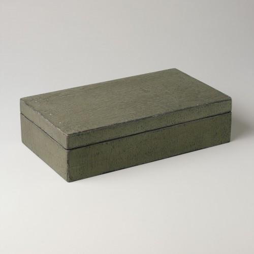 Caja verde grande con acabado lenteja
