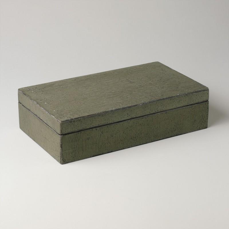 Caja verde grande con acabado lenteja - BECARA